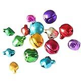 50X Toruiwa Bunte Glöckchen Schellen Lose Perlen für DIY Schmuck Anhänger Ornamente Hochzeit Dekoration Hundehalsband Zubehör 10mm/25mm (Zufällige Farbe)