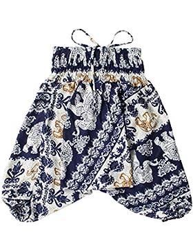 Lofbaz Niño Niña Bebé Harem Pantalones Aladdin Verano Mono