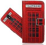Wiko View Lite Handy Tasche, FoneExpert® Wallet Case Flip Cover Hüllen Etui Hülle Ledertasche Lederhülle Schutzhülle Für Wiko View Lite