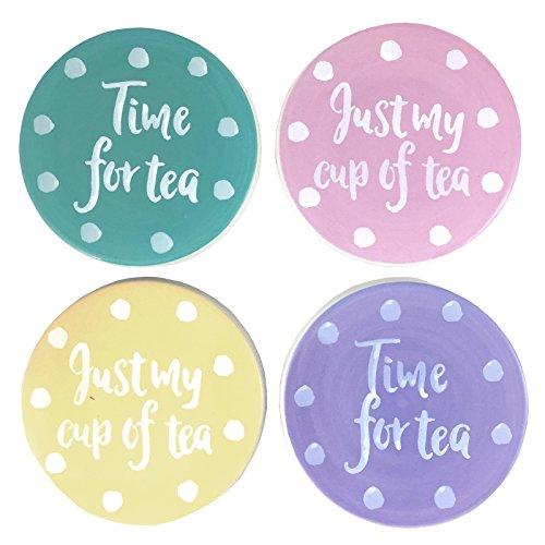 Basta contempo Tea Time, set di 4sottobicchieri,
