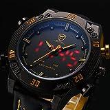 Shark-Mens-LED-Date-Day-Alarm-Digital-Analog-Quartz-Sport-Black-Leather-Band-Wrist-Watch-SH263-Yellow