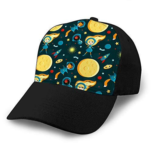 Kostüm Planet Saturn - Cowboy Hat Fashion Baseball Cap for Men and Women Girl Friends Moon Cartoon Style Fox Rose Space Suits Sun Saturn Earth Other Planets Rocket Stars