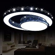 OLQMY LED Deckenleuchte Geformt Schlafzimmer Lampen Schmiedeeisen Wohnzimmerlampe Raumbeleuchtung 45cm