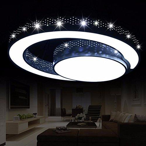OLQMY-LED Deckenleuchte, geformt, Schlafzimmer Lampen, Schmiedeeisen Wohnzimmerlampe, Raumbeleuchtung, 45cm (Hello Lampen Kitty Für Schlafzimmer)