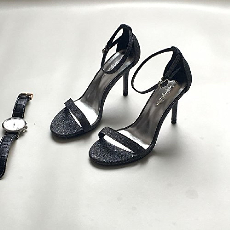 7de10b5460d85c Chaussure shaoge un mot avec avec avec des talons bien talon leaky toe  paillettes fashion minimaliste des chaussures de femmes b0753lr5cy des  parents | Beau ...