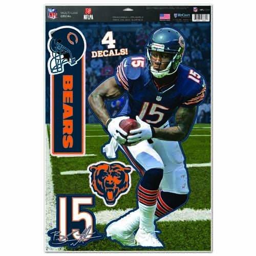 Bears Brandon Marshall Multi Dekorbogen, 27,9x 43,2cm Team Farbe ()
