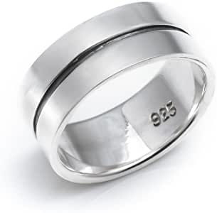 Silverly Femme Homme Argent .925 Bague Bali Rope Bande Pouce 9mm