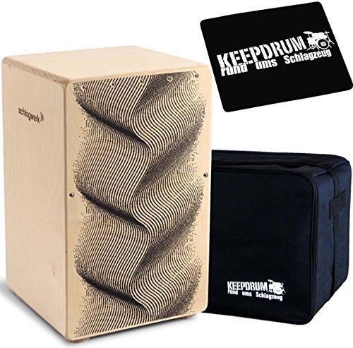 Schlagwerk Cajon + KEEPDRUM Gig Bag + CP-01 Pad (CP120 + Bag + Pad)
