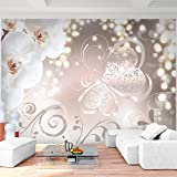 Fototapete Blumen Orchidee Weiß 396 x 280 cm Vlies Wand Tapete Wohnzimmer Schlafzimmer Büro Flur Dekoration Wandbilder XXL Moderne Wanddeko Flower 100% MADE IN GERMANY - Runa Tapeten 9076012a