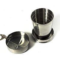 Tazza portatile, pieghevole in acciaio mini tazza