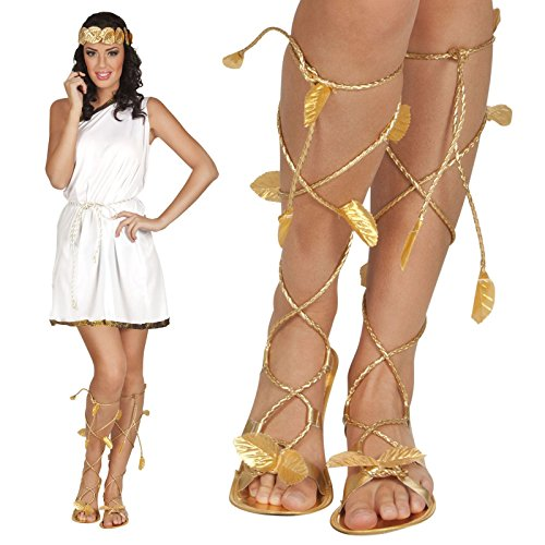 Roman Greek Gold Goddess God Sandals Xena Princess -