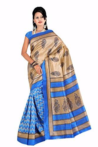 cotton sarees (Rangrasiya Women Cotton Silk Blue Printed Saree)  available at amazon for Rs.249