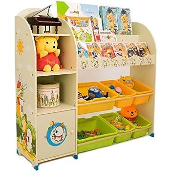 SZ5CGJMY ® Kids Children Bookcase Book Shelving Toy Storage Play Oragnizer  Boxes Display Cabinet Playroom Bedroom