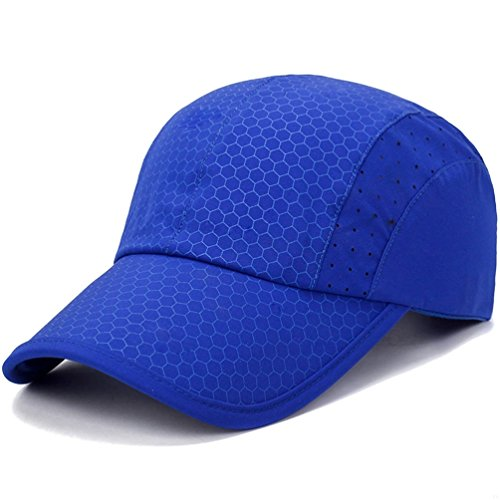 Sport cap,Soft Brim Lightweight Waterproof Running Hat Breathable Baseball Cap Quick Dry Sport Caps Cooling Portable Sun Hats for Men and Woman Performance Cloth Workouts and Outdoor Activities Blue Womens Sky Blue Cap