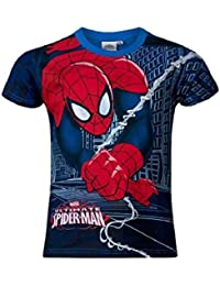 Spiderman Kids Boys Licensed Marvel Tshirt In Red and Blue Ages 4-10 Years Available