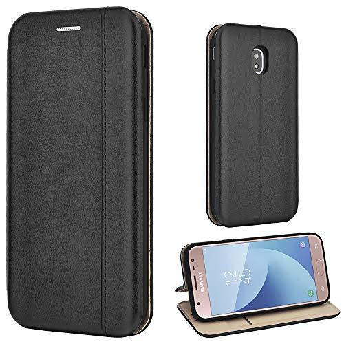 Leaum Galaxy J3 2017 Hülle Handyhülle Leder Tasche Flip Case für Samsung Galaxy J3 2017