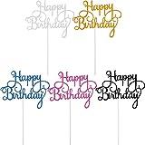 Yaomiao 25 Pezzi Topper per Torte Compleanno Scelta di Cupcake Buon Compleanno per Festa Decorazione