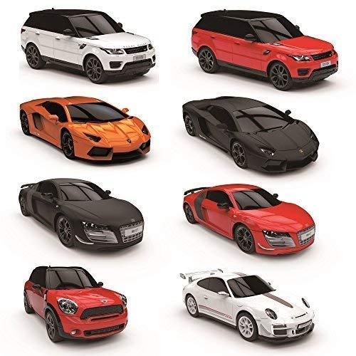 CMJ RC Cars Fernbedienung Supercar Range Led-Lampen, 2,4 GHZ Rennfahren 10 Zusamen - Porsche 911 Gt3 Weiß, 1:24