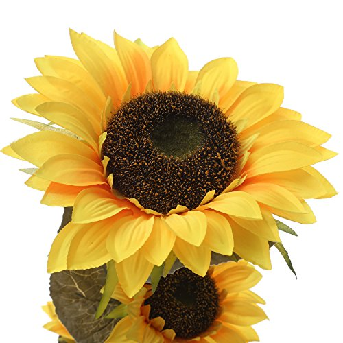 Starline 120cm Große Sonnenblume mit 3 Blüten und Langen Stiel – Star-LINE® Kunstblume bringt Leuchtend gelbe Farbtupfer in Jede Wohnung Kunst Blume Kunstpflanze Helianthus