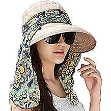 5c1f07b6c8dc Leisial Été Femme Casquette à Visière Anti-soleil Respirant Anti UV Pliable  Détachable Zippé Multifonction
