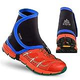 Rameng 2Pcs Guêtres Imperméables Guetre de Randonne Trail Gaiters Couvre Chaussures Anti-Sable (Bleu)