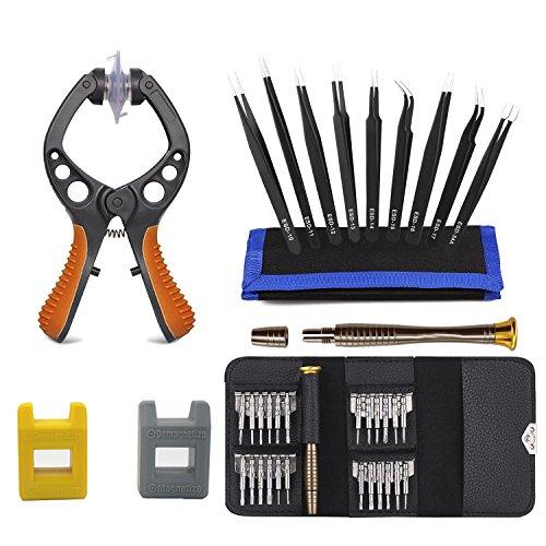 Kit di strumenti di riparazione dello schermo LCD multifunzionale di precisione cacciavite magnetico resistente con borsa da trasporto per riparare cellulari, iPhone, iPad, orologio,