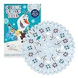 Hallmark 25491347Olaf Frozen Adventure biglietto di compleanno'fiocco di neve decorazione–Medium