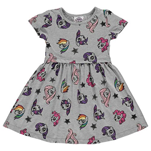 dchen Jersey Kleid U Ausschnitt Kurzarm Muster Freizeit Disney Ariel 3-4 Yrs ()