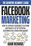 Facebook Marketing: The Definitive Beginner's Guide: How To Leverage Facebook's Platform And Reach A LOT Of Potential Customers On A Shoestring Budget ... Marketing Strategies) (English Edition)