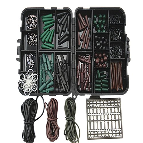 HCFKJ Assorted Carp Fishing Zubehör Tackle Boxen für Haar Rig Combo Box Stopper (A)