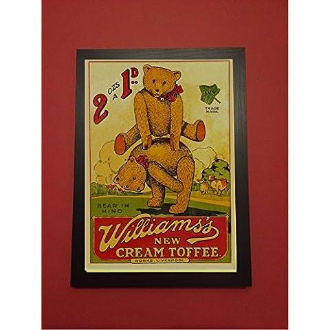 Bear in mind william nuovo stile vintage, immagine: toffee-Targa da parete
