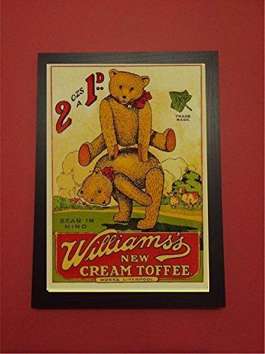 Bear in Mind William del nuovo crema Toffee stile vintage immagine placca a muro