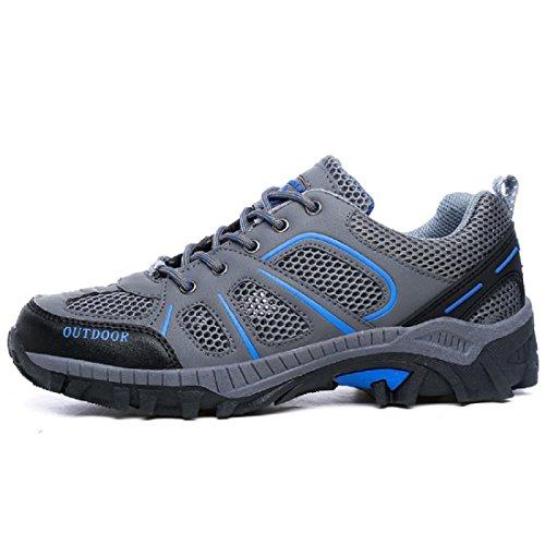 Hommes Chaussures de sport De plein air Chaussures de voyage Respirant Chaussures de randonnée Formateurs Chaussure de basket-ball EUR TAILLE 39-44 Blue