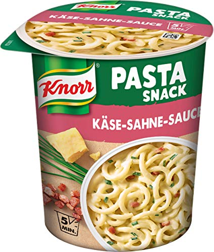 Knorr Snack Bar Pasta Snack Käse-Sahne-Sauce 1 Portion (8 x 71 g)