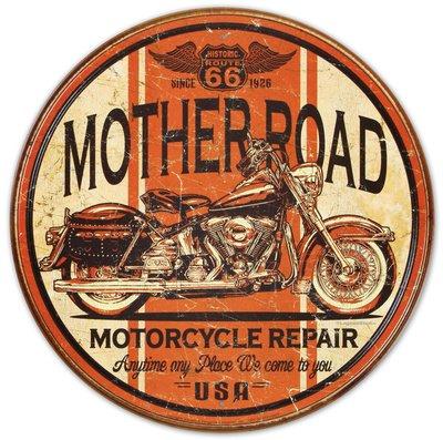 Mother Road Motorcycle Repair Blechschild, 30x30 (Raceing Car)
