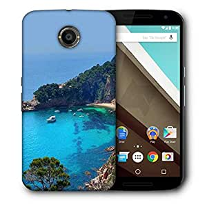 Snoogg Boats On Sea Designer Protective Phone Back Case Cover for Motorola Nexus 6