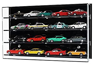 Acrylic Wall Display Case for 1:43 Scale Model Cars - 8 Shelves