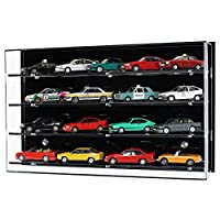 Widdowsons Display Cases Wall Display Case for 1:43 Scale Model Cars 4 Shelves, Acrylic, 47 x 13.5 x 29.5 cm