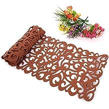 zjchao Camino de Mesa, la Flor Hueco Tischband Mantel Almohadilla de Fondos de Pantalla Coaster