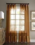 Pacific Coast textiles estándar–Cortina (viscosa,/de seda, cobre, 37x 84-Inch, Single