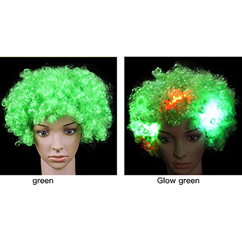 ainbow Clown Perücke Curly Multicolor für Halloween Christmas Disco Dancer Cosplay (Cosplay Unterschied)
