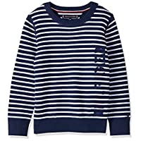 Tommy Hilfiger Boy's Stripe Sweater, Blue, 8 Years