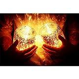 LEDMOMO Sun Jar Lichter Solar Einmachglas Lampen für Hochzeit Gefälligkeiten Garten Terrasse dekorative Beleuchtung (sieben Farben)