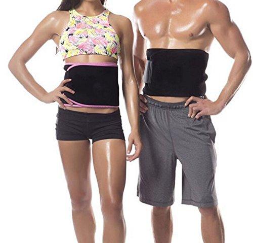 KAISIR Taille Trimmer - Ziele Fett um Hüfte/Bauch / Magen-schlanker Sauna Gürtel für Männer, schwarz, mittelgroß
