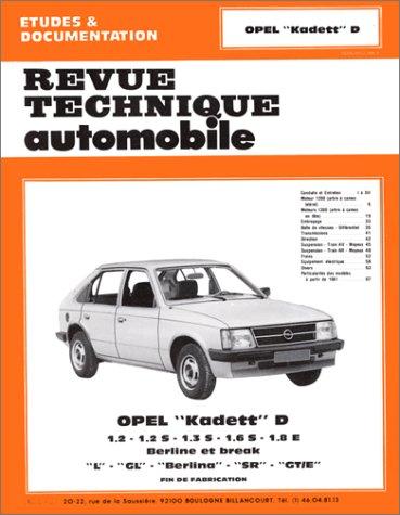 Revue technique de l'Automobile numéro 405.3  : Opel Kadett D, Berlina, L, GL, SR, et GT-E