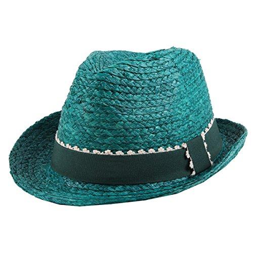 Mme été Un Grand Chapeau De Soleil à Larges Bords Coton Pliable Chapeau Tour Du Vent Chapeau De Vacances green