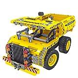 Dump Truck Toy Toy montado en el avión 2 en 1 Transformation Engineering Truck Dump Truck y avión 2 en 1 Montaje del bloque de construcción Coche montado en el juguete