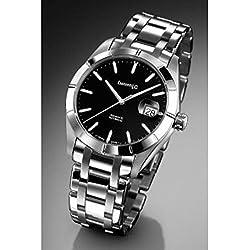 Clock Eberhard acquadate 41015.SCA Breaker quandrante Black Strap Stainless Steel