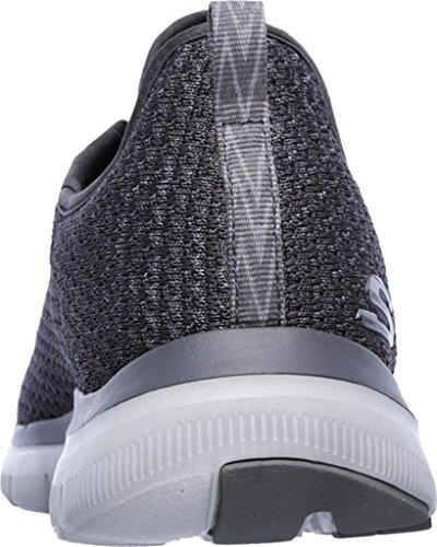 Skechers Flex Advantage 2.0-Cravy, Chaussures de Running Homme Gris (Charcoal)
