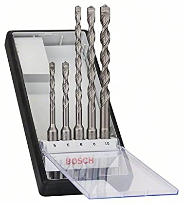 Bosch 2 608 585 073 - Juego de 5 brocas para martillos perforadores Robust Line SDS-plus-7-5; 6; 6; 8; 10 mm (pack de 5)